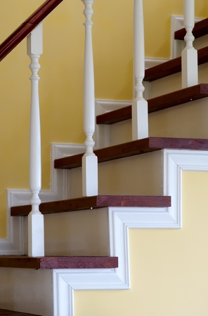 Stairs in the house by the closeup
