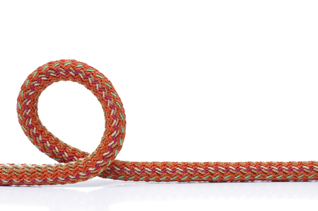 Strong rope on a white close-up Stock Photo
