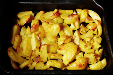 delicious crispy home fries Stock Photo