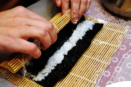 morsel: the process of cooking sushi and rolls
