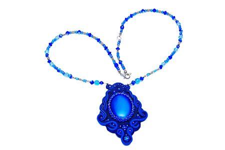 personal ornaments: beautiful designer jewelry handmade Stock Photo