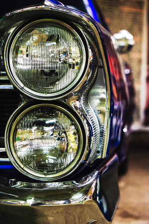headlight of a vintage car Stock Photo