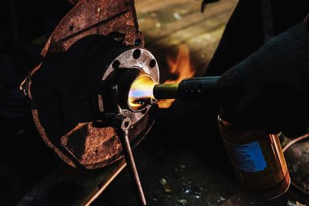 burner gas hub Stock Photo