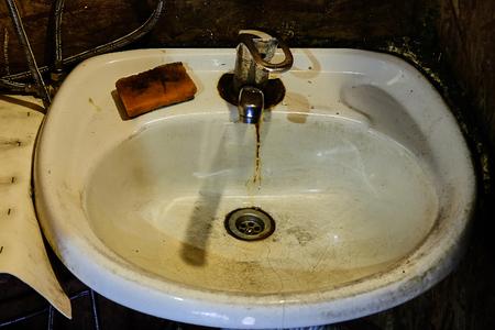 rusty dirty sink Stock Photo