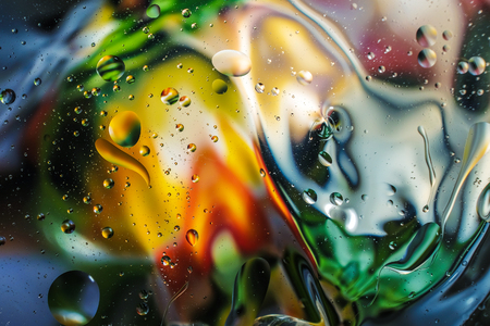 colorful background from water drops