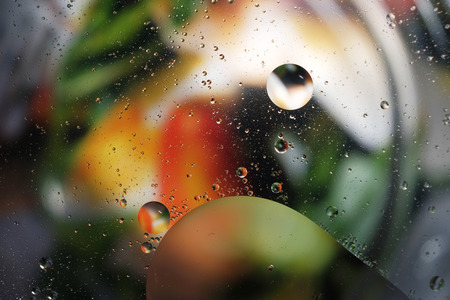 mixed wallpaper: colorful background from water drops
