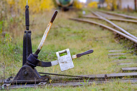 photo of a railroad switch Stock Photo - 90041463