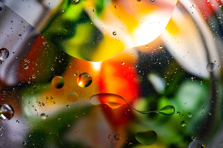 colorful background from water drops Reklamní fotografie - 91591857