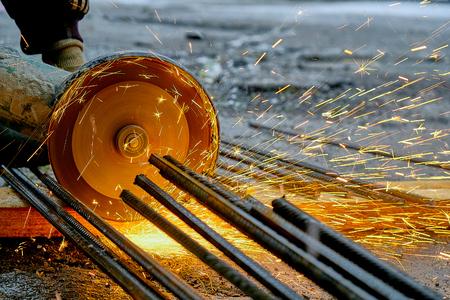 Builder cuts metal cutting machine