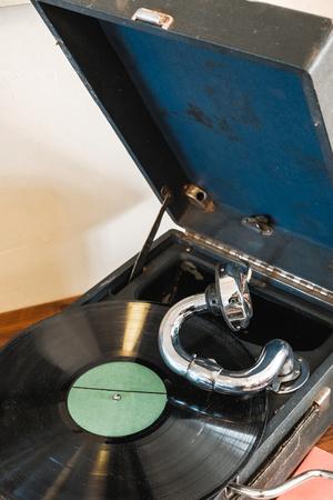 old retro gramophone