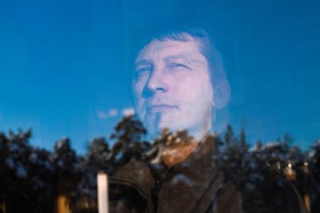 portrait of an attractive brutal middle-aged man Reklamní fotografie