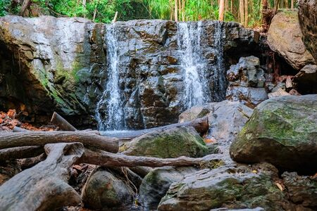 beautiful waterfall on the island of Phu Quoc