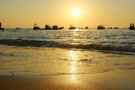 wonderful sunset on phu quoc island