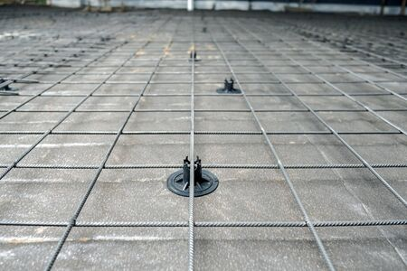 mesh for reinforcement concrete slab in the garage