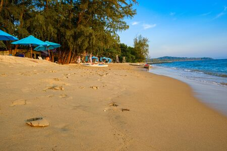 sandy beach on phu quoc island