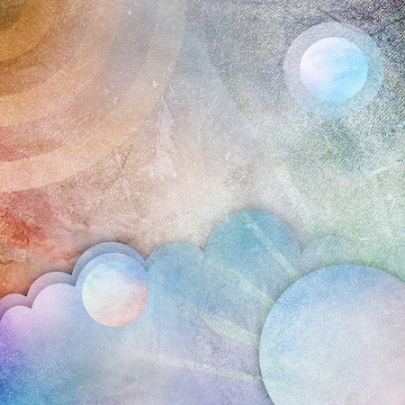 abstract pastel on paper space, art, impressionism Stock Photo - 17250528