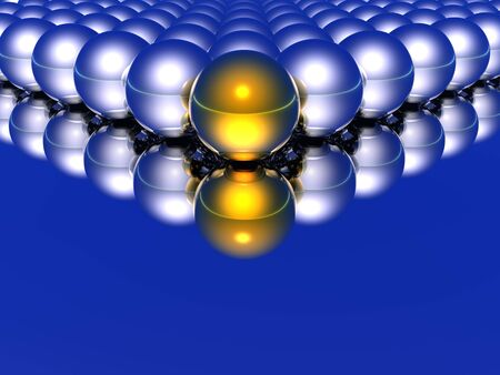 abstract balls and their reflections Stock Photo - 575249