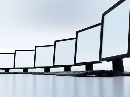 Einige moderne Computer verbunden in einem lokalen Netz