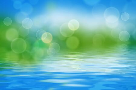 summer background with blurs and refelctions in water Stock Photo - 7503456