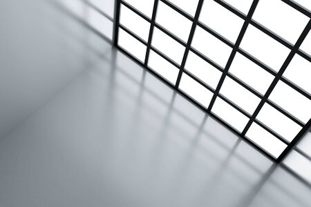 Light window and wall as a futuristic background