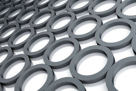 Abstract dark grey circles on a white background Stock Photo - 12610460