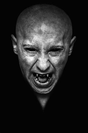 ハロウィン吸血鬼の肖像 写真素材