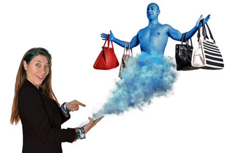 魔神のオンライン ショッピング 写真素材