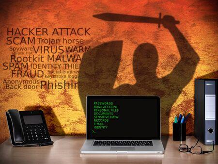 antivirus software: hacker versus antivirus software security