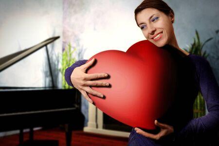 femme romantique: femme il amour