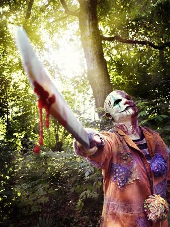 machete: mad clown halloween horror house