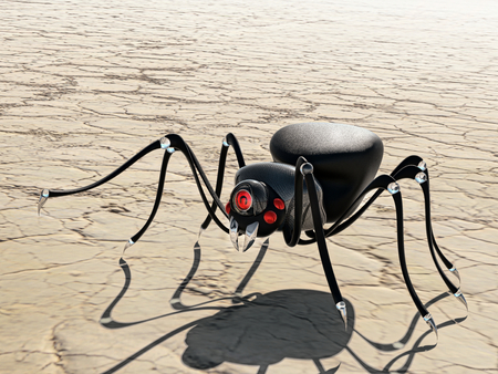 cyber spider robot Stock Photo