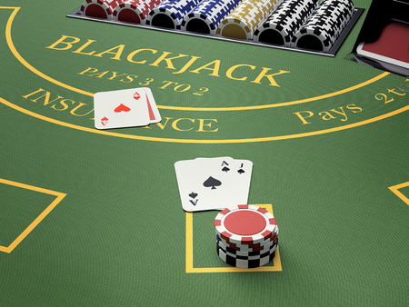 blackjack table in online casino