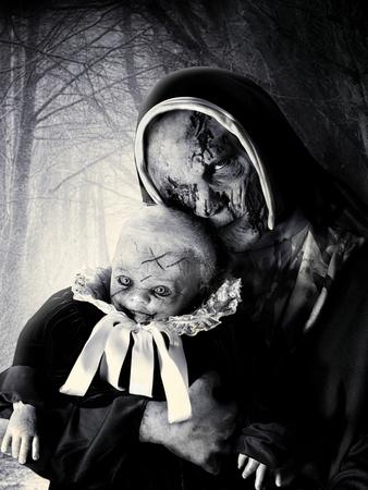 horror vampire nun and devil baby