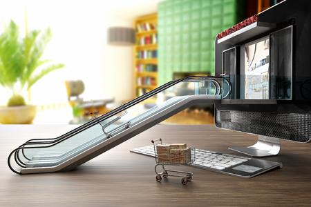online shopping center Foto de archivo - 119447754
