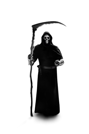apocalypse grim reaper knight on judgment day Foto de archivo - 122215901