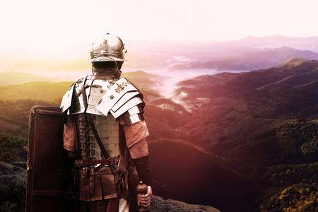 oude Romeinse legioensoldaat Stockfoto