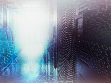 abstract data center background and cloud computing concept