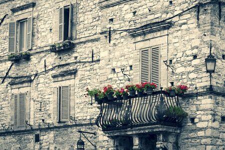 vintage italian building Banco de Imagens