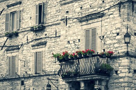 vintage italian building Stock Photo