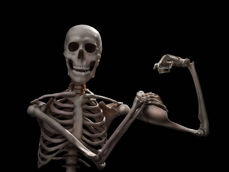 funny muscle skeleton after intense workout
