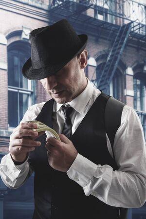 vintage Italian mafia gangster
