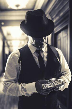 vintage Italian mafia gangster Stock Photo - 144147436
