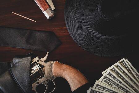 vintage mafia gangster background
