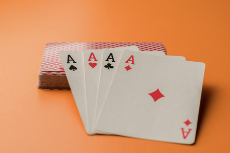 Four Aces and Deck - Four of a Kind Poker .