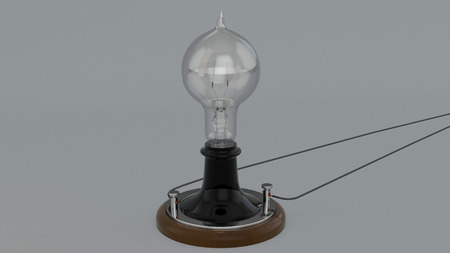 Thomas Edison Lightbulb Stock Photo