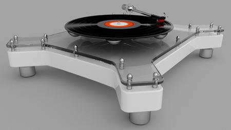 Futuristic stereo turntable
