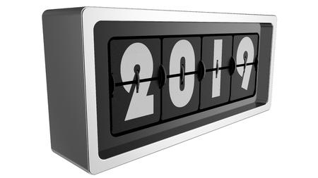 2019 flip flap clock