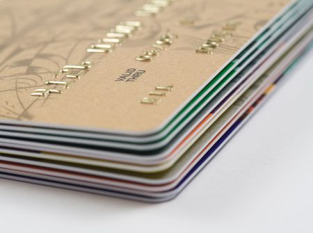 Stack of credit cards. Financial concept Stock Photo - 3875833