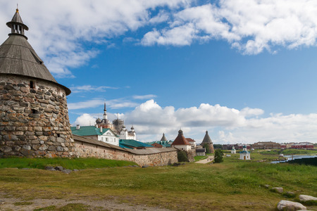 View of the Solovetsky monastery (16 century), Russia