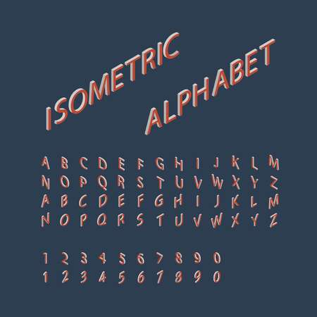 numbers: Isometric Alphabet and numbers Illustration